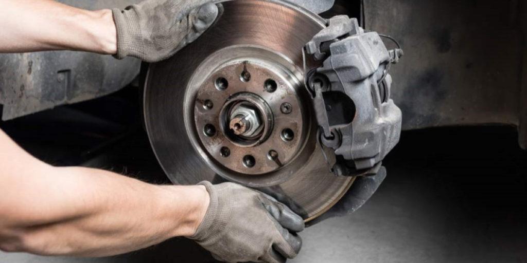 checking car brakes