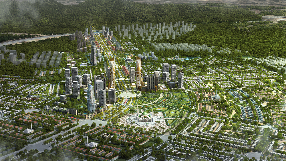 Aerial-side view of the whole housing project of Capital Smart City.