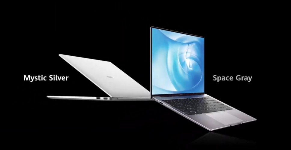 mystic silver and space gray Matebook by Huawei