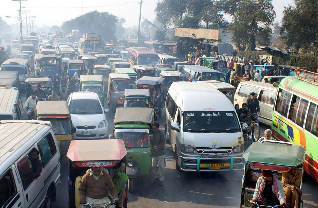 Generic image of the traffic situation in Pakistan.