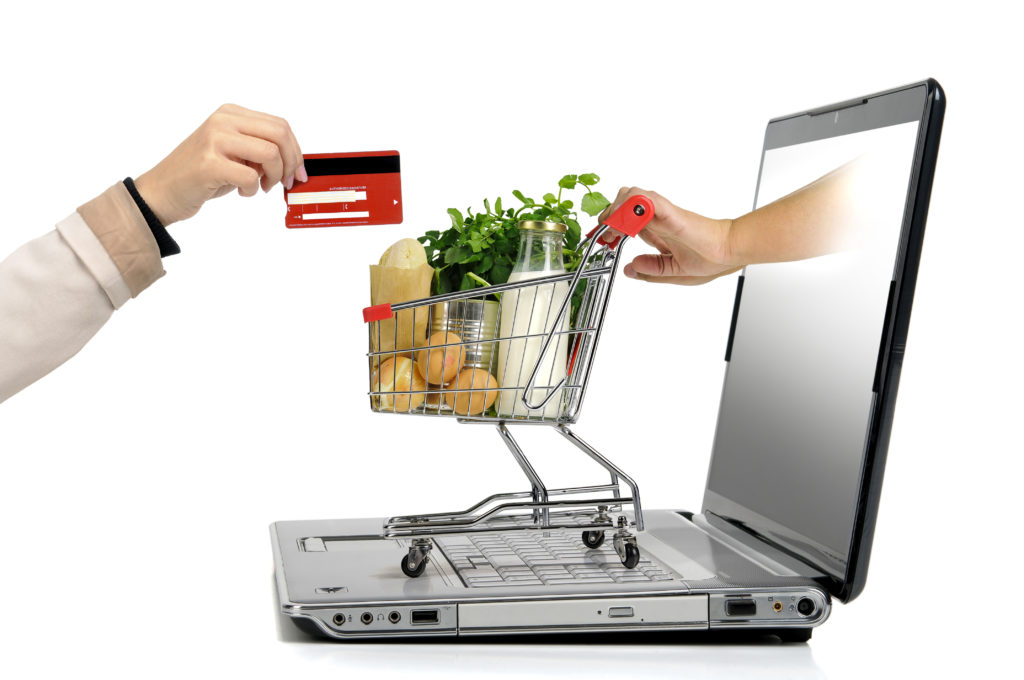 paying for groceries online to save time