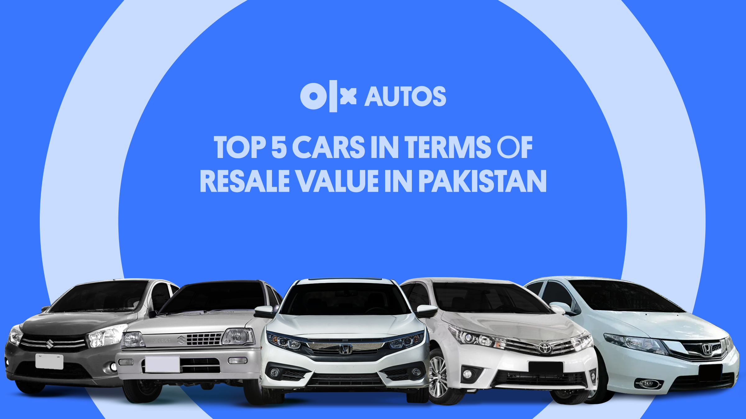 Top 5 Cars in Terms of Resale Value in Pakistan