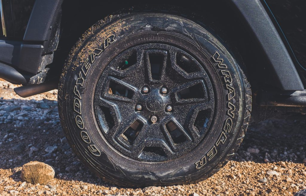 tyres with dirt