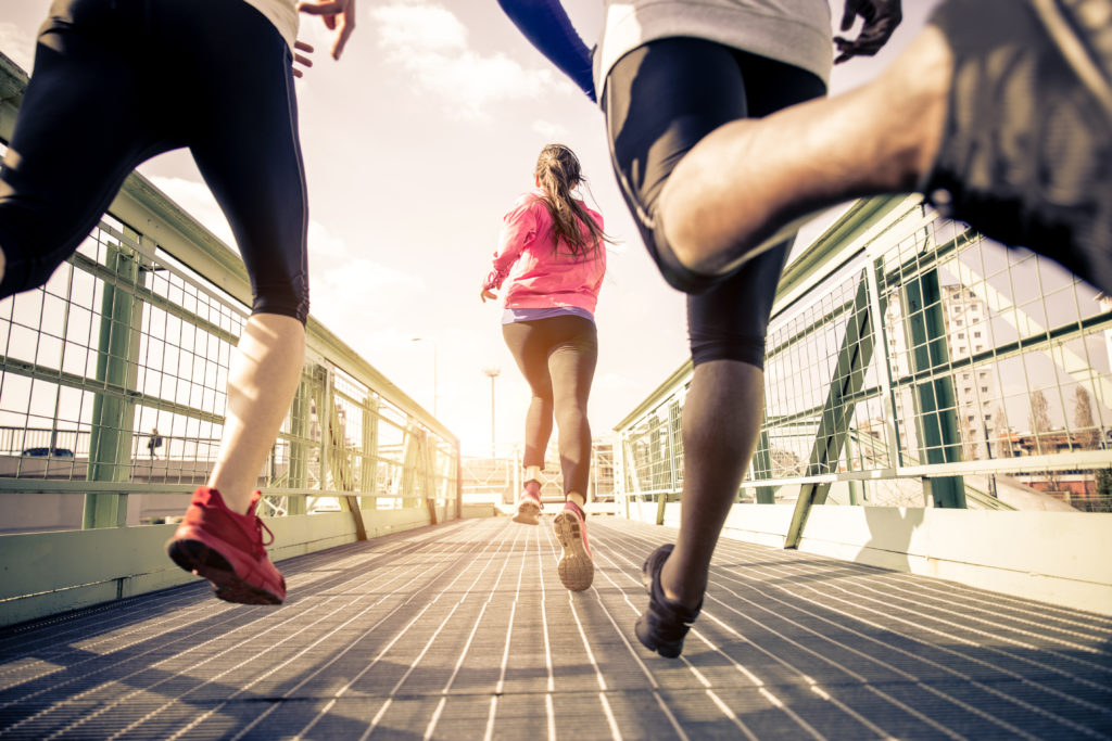 people running 5K race
