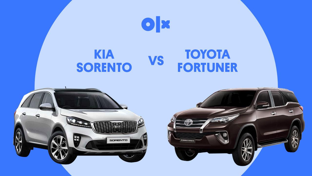 KIA Sorento VS Toyota Fortuner