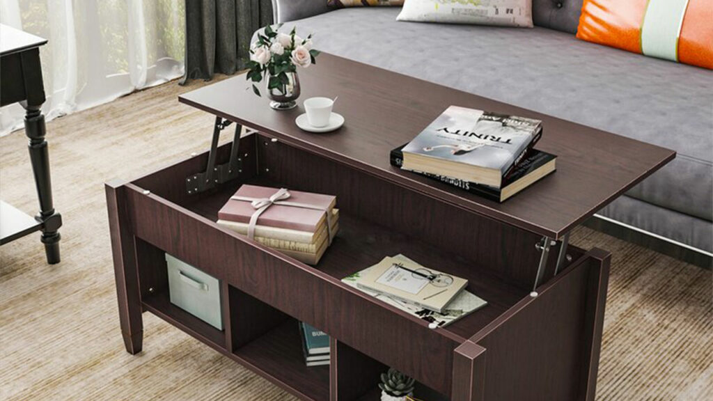 A multi-purpose table that can function both as a coffee table and a dining table trump always!
