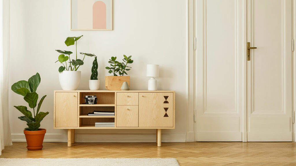 A sideboard is good news for minimalists, moms, and anyone who hates clutter!