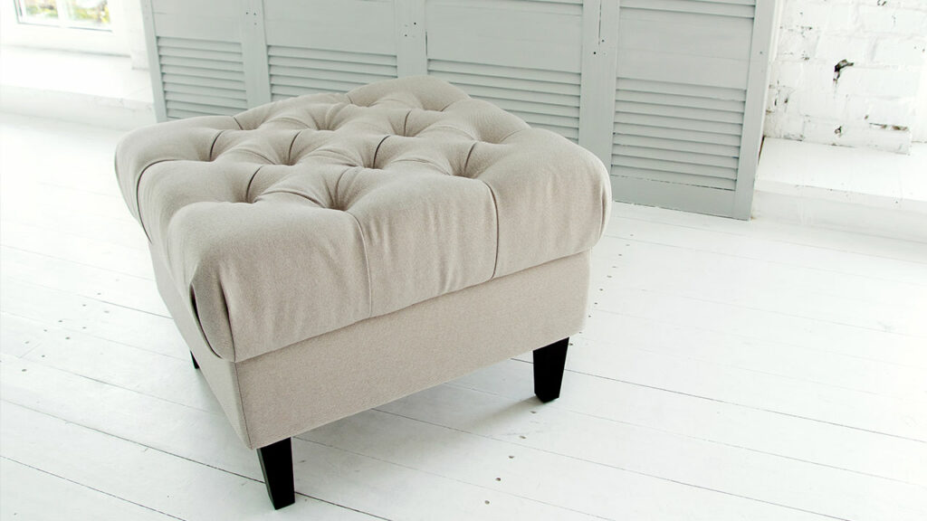 Ottoman is an all-rounder. Use it as a coffee table, footrest, stool, or secret storage box to hide your snacks.